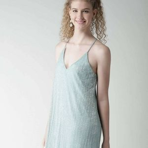 FOREVER 21 Ice blue silver shimmer Dress